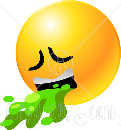 22159-Clipart-Illustration-Of-A-Yellow-Emoticon-Face-Puking-Up-Green-Barf